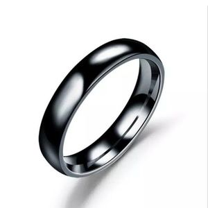 Other - Polished Stainless Steel 4mm Ring/Band Size: 8